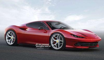 Nuova Ferrari Dino, il rendering di Trazione Posteriore