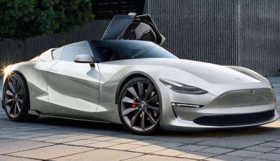 Tesla Roadster 2019, il rendering della scoperta elettrica