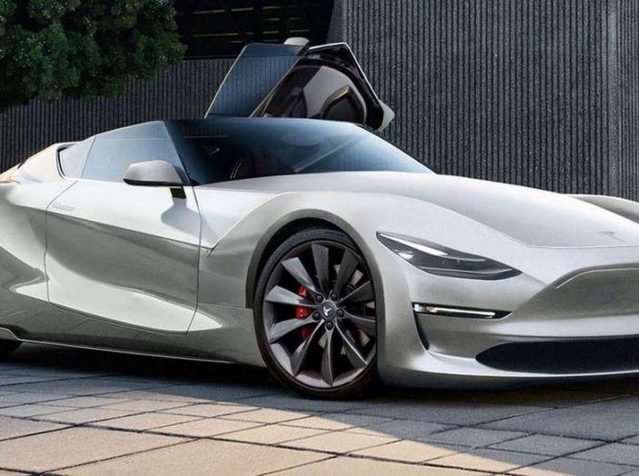 Tesla Roadster 2019, il rendering della scoperta elettrica - Foto 1 di 4