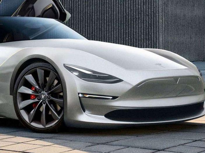 Tesla Roadster 2019, il rendering della scoperta elettrica - Foto 2 di 4