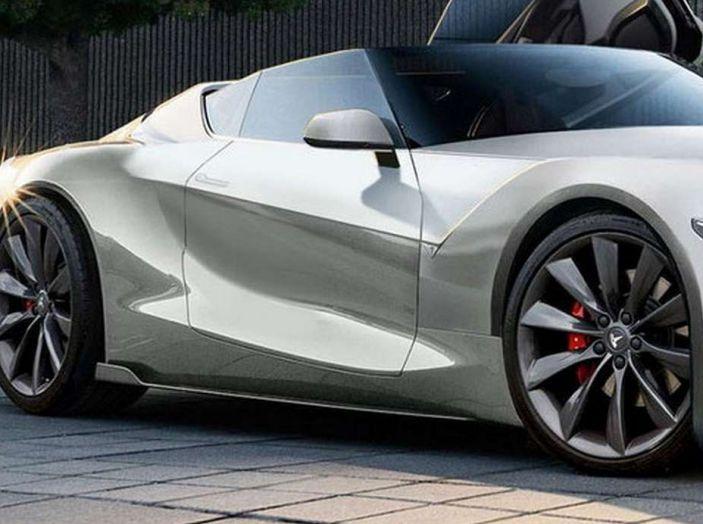 Tesla Roadster 2019, il rendering della scoperta elettrica - Foto 3 di 4