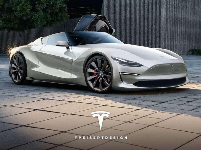 Tesla Roadster 2019, il rendering della scoperta elettrica - Foto 4 di 4
