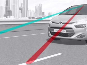 Citroën Lane Departure Warning, avviso attivo di superamento della linea di carreggiata