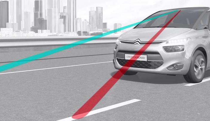 Citroën Lane Departure Warning, avviso attivo di superamento della linea di carreggiata - Foto 1 di 13