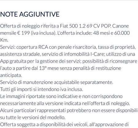 Fiat 500 in affitto con canoni da 199 per 1.2 POP a 276 euro per 500 Riva con Fiat Be Free - Foto 7 di 11