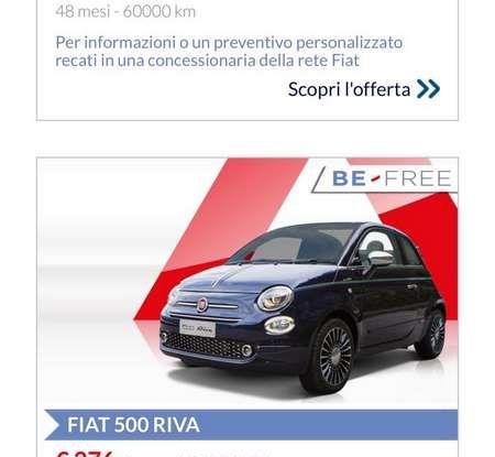 Fiat 500 in affitto con canoni da 199 per 1.2 POP a 276 euro per 500 Riva con Fiat Be Free - Foto 8 di 11
