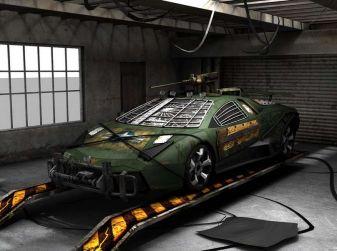 Lamborghini Reventon con modifiche anti invasione zombie