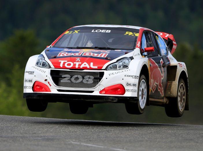 La 208 WRX di Loeb nuovamente sul podio nel Rallycross - Foto 1 di 3