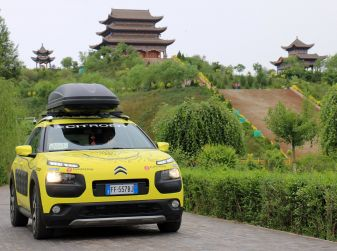 Citroën Avventura Gialla: la C4 Cactus arriva alla Muraglia Cinese