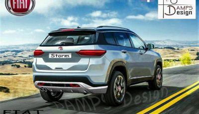 Fiat Storm, il rendering: Crossover su base Renegade per il marchio torinese