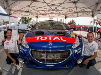 Laurent Pellier (pilota Junior, 208 Rally Cup) e Benoît Neyret-Gigot (copilota) all'ERC in Repubblica Ceca