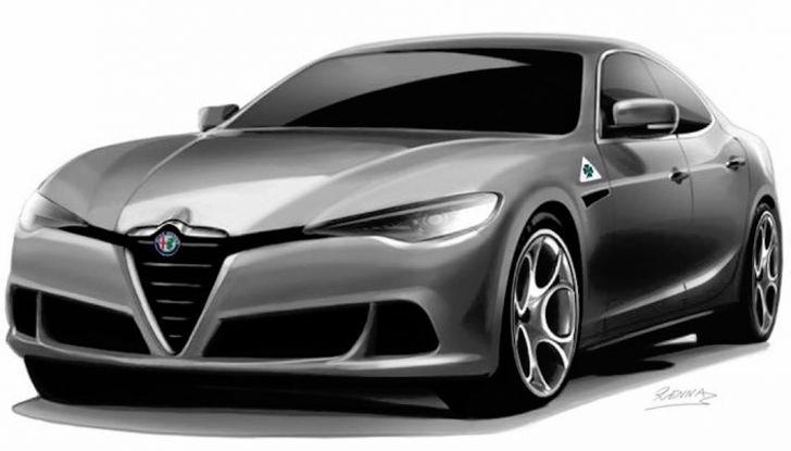 Alfa Romeo Alfetta, il rendering dell'ammiraglia del Biscione - Foto 4 di 6