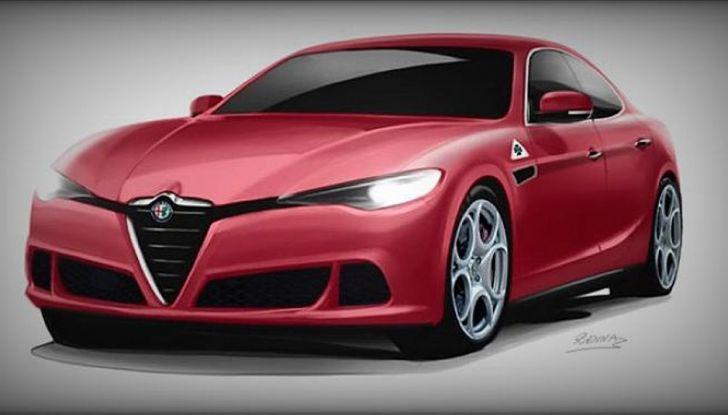 Alfa Romeo Alfetta, il rendering dell'ammiraglia del Biscione - Foto 5 di 6