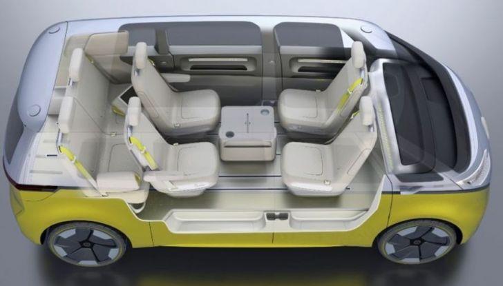 Volkswagen presenta I.D. BUZZ: il leggendario furgoncino hippie anni '70 torna tra noi - Foto 5 di 10