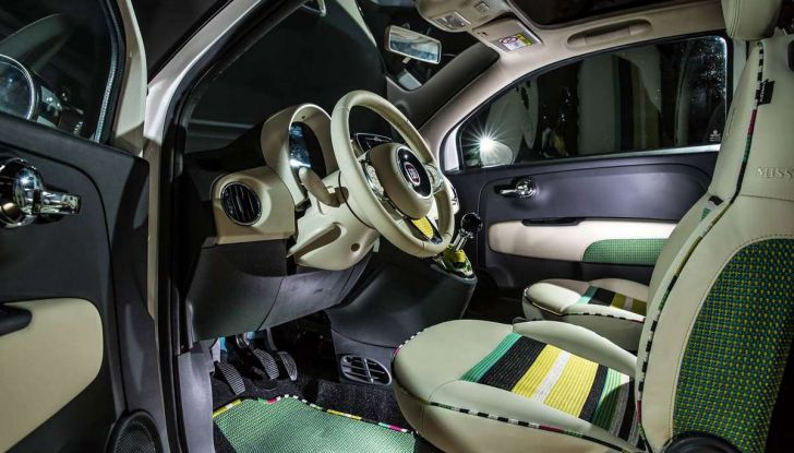 Fiat 500C Missoni by Garage Italia Customs battuta all'asta per beneficenza - Foto 5 di 6