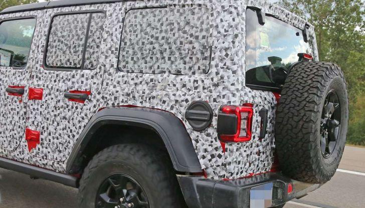 Jeep Wrangler MY2018, prime immagini spia - Foto 16 di 22