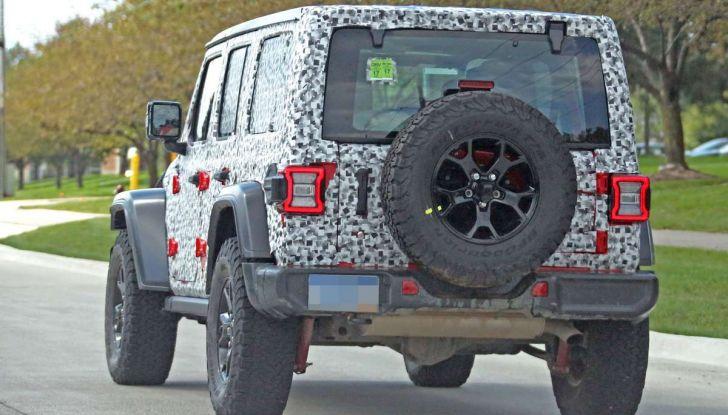 Jeep Wrangler MY2018, prime immagini spia - Foto 4 di 22