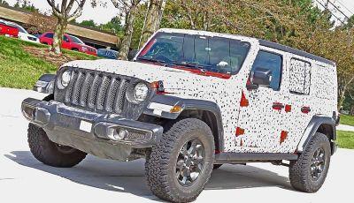 Jeep Wrangler MY2018, prime immagini spia