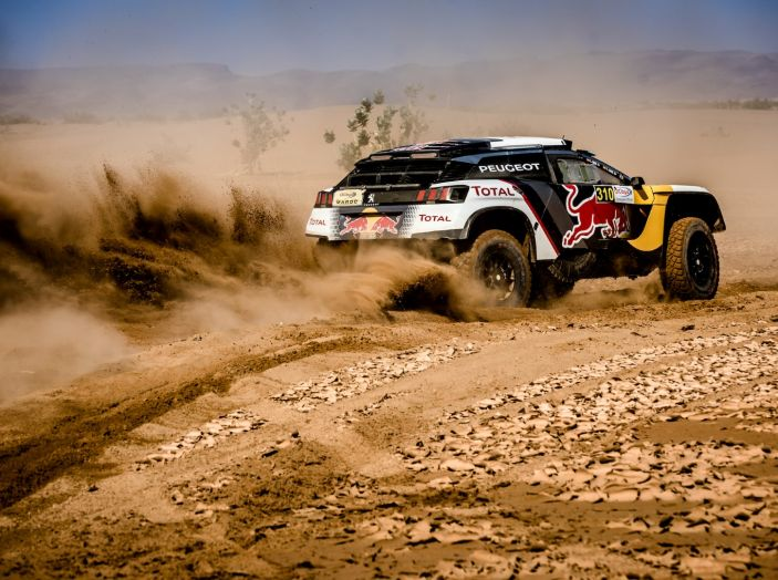 Rally del Marocco- Doppio podio Peugeot 3008DKR con Sainz e Loeb - Foto 3 di 3