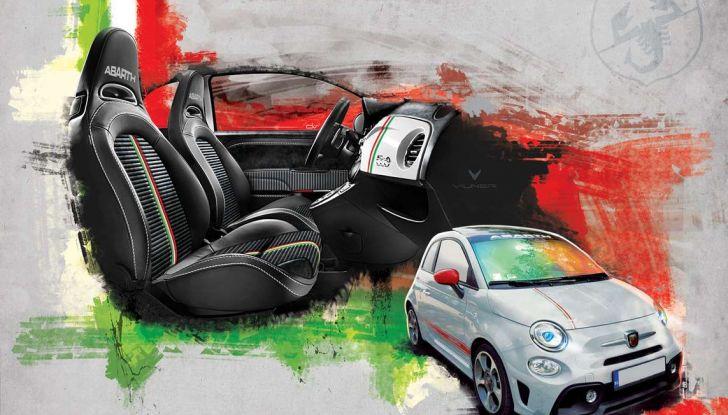 Fiat 500 Abarth 595 by Vilner, la piccola sportiva omaggia il tricolore - Foto 4 di 15