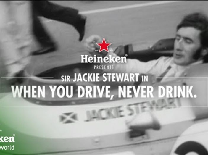 F1, Jackie Stewart con Heineken per la miglior pubblicità progresso di sempre - Foto 1 di 13