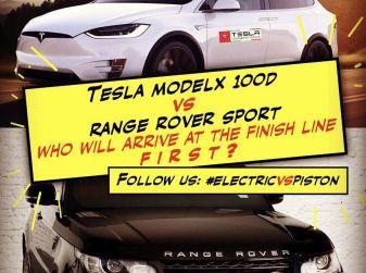 Tesla Owner Club, la sfida: Tesla Model X VS Range Rover HSE in 800Km