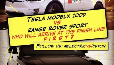 Tesla Owner Club, la sfida: Tesla Model X VS Range Rover HSE in 800Km