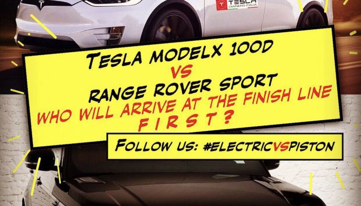 Tesla Owner Club, la sfida: Tesla Model X VS Range Rover HSE in 800Km - Foto 1 di 12