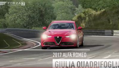 Alfa Romeo Giulia QV e Abarth 124 Spider protagoniste di Forza Motorsport 7