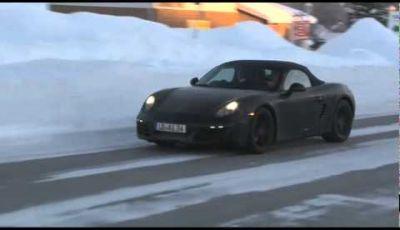 Porsche Boxster video spia della rivale di Mercedes SLK e BMW Z4
