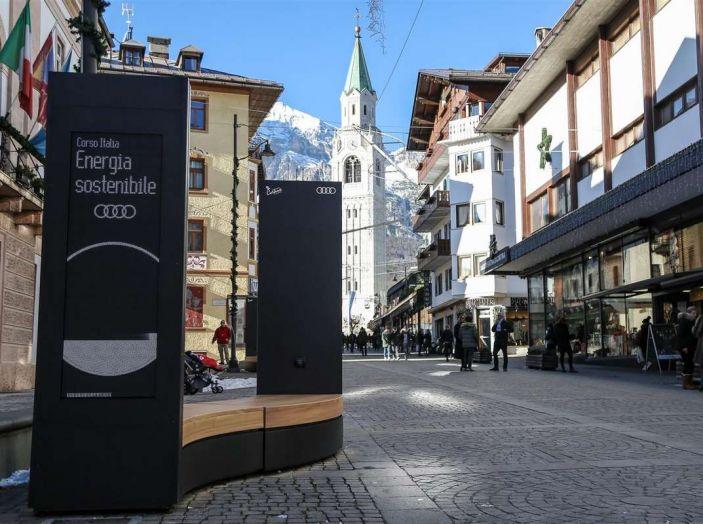 Audi sviluppa la rete di ricarica elettrica a Cortina d'Ampezzo - Foto 2 di 11