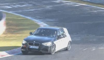 BMW M135i video spia dei test al Nurburgring