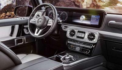 Gli interni della nuova Mercedes Classe G 2018 svelati ufficialmente