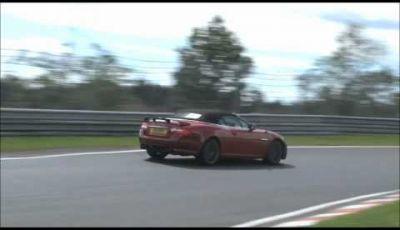 Jaguar XKR-S video spia al Nürburgring