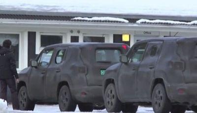 Jeep B-Suv video spia nel nord dell'Europa