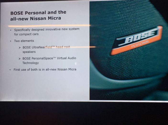 Nuova Nissan  Micra con motore tre cilindri da 71CV e allestimento Bose Personal - Foto 14 di 15