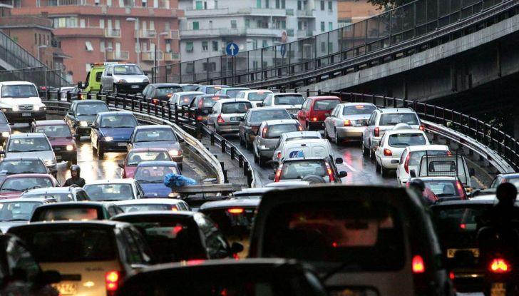 Roma traffico in tilt