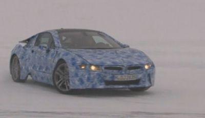 BMW i8 video spia dei test al Circolo Polare Artico