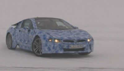 BMW i8 video spia dei test al Circolo Polare Artico