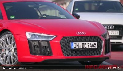 Audi Sport 2016: R8, RS7, RS6 ed RS3