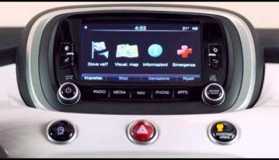 Fiat 500X il sistema multimediale