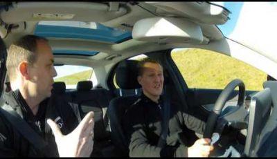 Michael Schumacher e la nuova Mercedes Classe C