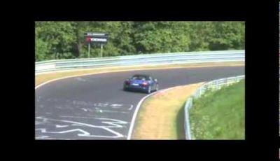 Audi R8 GT Spyder spy video test al Nürburgring