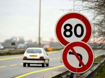 Il limite di velocità in Francia scende a 80 Km/h