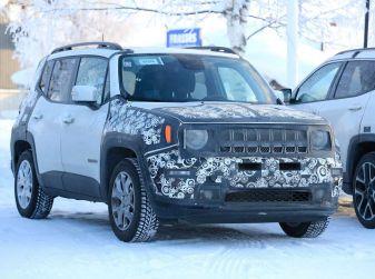 Jeep Renegade restyling 2019, prime immagini dei test