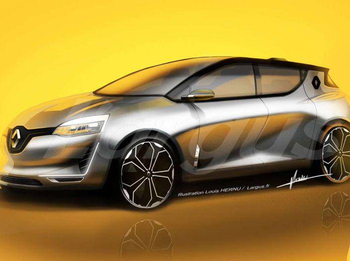 La futura Renault Clio 2019 avrà guida autonoma e sarà ibrida - Foto 1 di 5