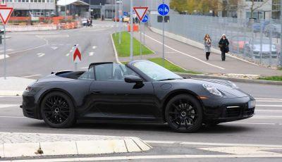 Porsche 911 Cabrio MY2019, prime foto dei test su strada