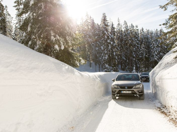 SEAT e la trazione integrale 4Drive, prova e recensione sulla neve - Foto 46 di 62