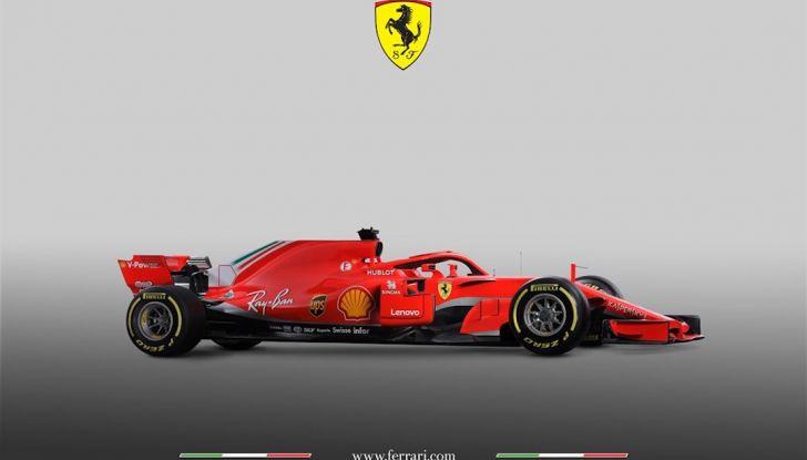 Ferrari SF71H F1 2018, presentata la nuova monoposto della Scuderia - Foto 2 di 5