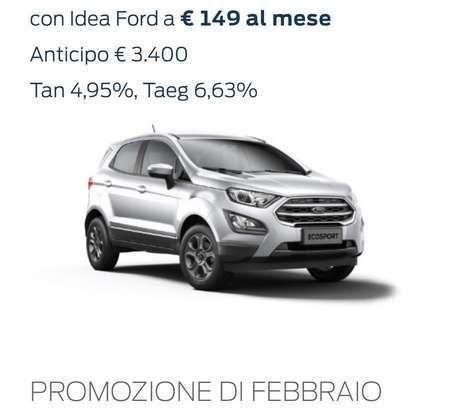 Nuova Ford Ecosport Plus a rate da 149 euro al mese - Foto 13 di 14